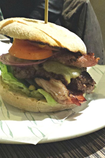 All American burger from No 1 Kitchen, Stamford